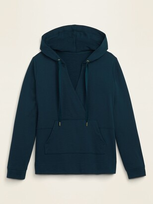 Old Navy French Terry Cross-Front Pullover Plus-Size Hoodie