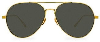 Linda Farrow 792 C2 Oversized Aviator Sunglasses