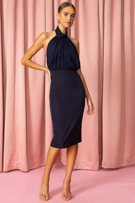 superdown High Neck Midi Dress