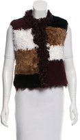 Jocelyn Fur Colorblock Vest