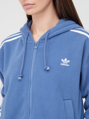 adidas Fleece Full Zip Hoodie - Blue