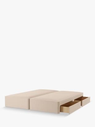 John Lewis & Partners Pocket Sprung 2500 4 Drawer Storage, Double Upholstered Divan Base, FSC-Certified (Pine)