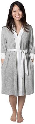 Kindred Bravely Emmaline Maternity Nursing Robe (Grey) Women's Robe