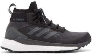 adidas Terrex Free Hiker High Top Primeknit Trainers - Mens - Black