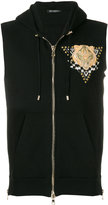 Balmain embroidered zipped vest