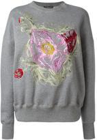 Alexander McQueen floral embroidered sweatshirt - women - Cotton - 40