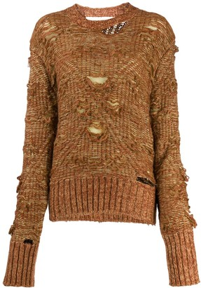 MM6 MAISON MARGIELA Deconstructed Cable Knit Jumper