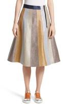 Mira Mikati Women's Glitter Panel A-Line Skirt