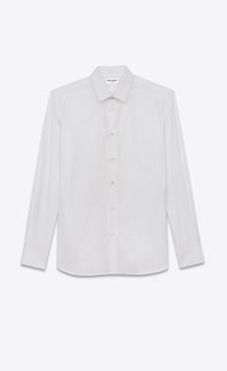 Saint Laurent Shirt In Cotton Poplin White 14