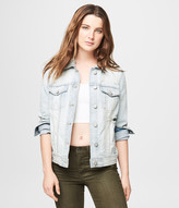 Super Destroyed Light Wash Denim Jacket