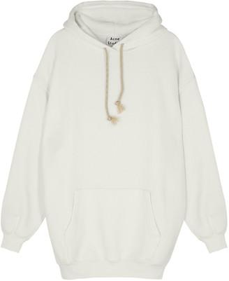Acne Studios Fanita White Hooded Jersey Sweatshirt