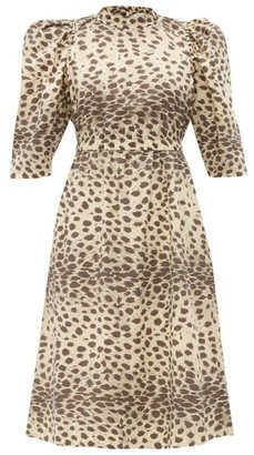 Sea Leo Leopard-print Cotton Dress - Womens - Leopard