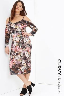 Girls On Film Print Midi Dress
