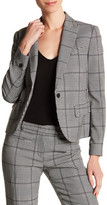 Anne Klein Plaid One Button Jacket