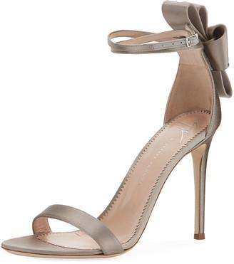 Giuseppe Zanotti Satin Bow-Heel Sandals