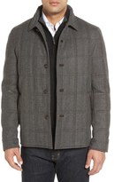 Luciano Barbera 'Historical' Herringbone Wool Blend Coat