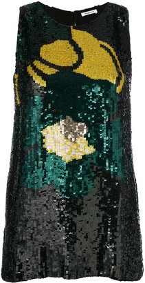 P.A.R.O.S.H. Sequinned Sleeveless Top