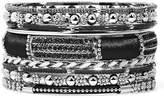 JCPenney MIXIT Mixit Silver-Tone Black 9-pc. Bracelet Set