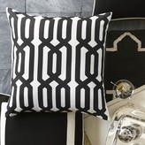 Williams-Sonoma Outdoor Printed Graphic Links Pillow, Black