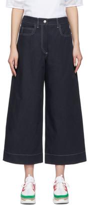 Kenzo Navy Linen Culottes