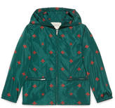 Gucci Children's bees stars nylon jacket