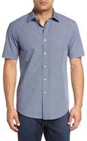 Bugatchi Men's Shaped Fit Graphic Print Sport Shirt