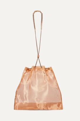 Saskia Diez Balloon Mini Organza Pouch - Bronze