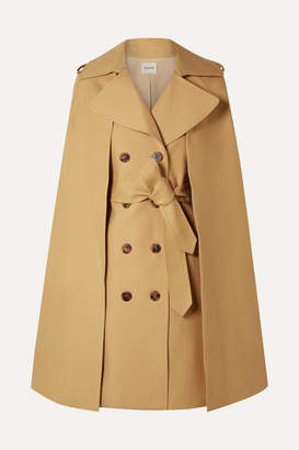 KHAITE Donna Cape-effect Cotton-twill Trench Coat - Beige