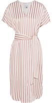 Iris and Ink Striped Twill Dress