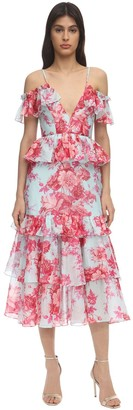 Alice McCall Printed Cotton Voile Midi Dress