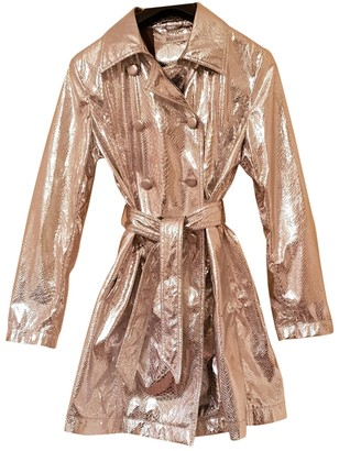 Balmain Silver Polyester Trench coats