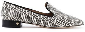 Tory Burch Snake-effect Leather Loafers