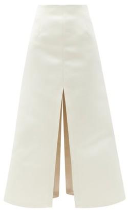 A.W.A.K.E. Mode High-rise Crepe A-line Maxi Skirt - Ivory