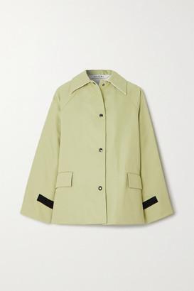 Kassl Editions - Reversible Canvas, Shearling And Shell Coat - Green
