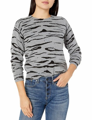 Monrow Women's Tiger Vintage Raglan Sweater