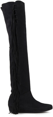 Etro Fringed Suede Over-the-knee Boots