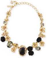 Oscar de la Renta Bouquet Crystal & Resin Floral Statement Necklace