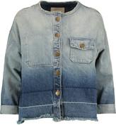 Current/Elliott Two-tone frayed denim jacket
