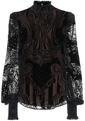 Balmain Devore velvet blouse