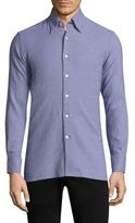 Canali Textured Button-Down Shirt