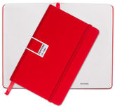 Pantone NEW Tomato Pocket Plain Elastic Band Notebook