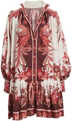 Zimmermann Wavelength Placement Print Silk Dress