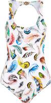 Roberto Cavalli Open-back printed swimsuit