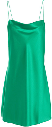CAMI NYC The Axel Draped Stretch-silk Satin Mini Slip Dress