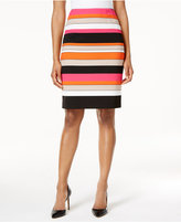 Kasper Striped Pencil Skirt