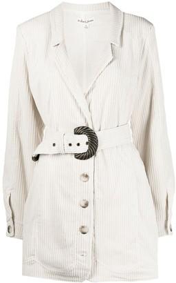 For Love & Lemons Belted Corduroy Blazer Dress
