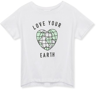 M&Co Love your earth slogan t-shirt (3-12yrs)