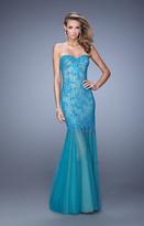 La Femme 21504 Lace Sweetheart Sheath Dress