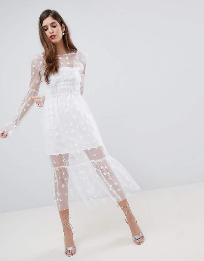 For Love & Lemons Midi Tulle Dress