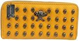 Donalworld Woen's Vintage Leather Wallets Skull Designer Purses Wristlet Clutch Bag Waterelon